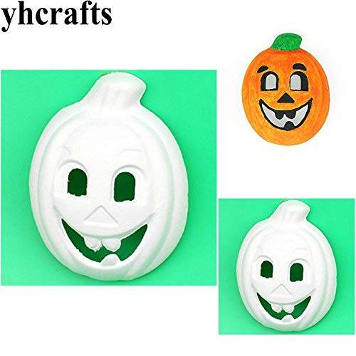 XuBa 10 Pcs/lot Pumpkin mask,Handpainted Your own,Halloween Toys,Drawing Toys.Kindergarten Crafts.DIY Crafts 22cm Show for $<!--$22.40-->