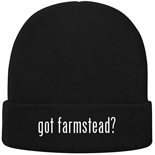 One Legging it Around got Farmstead? - Soft Adult Beanie Cap, Black