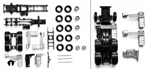 Herpa 083539Traction Machine Man TGX/TGS 3-Axis, 2Stück