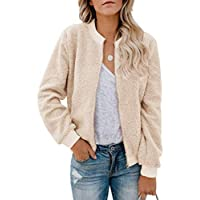 Sandinged Winter Solid Coat Long Sleeve Zipper Women's Jacket