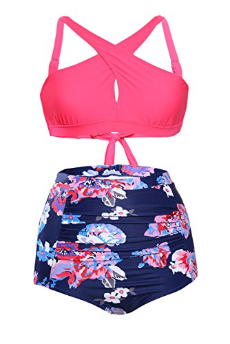 Astylish Women Floral Bikini Swimsuit