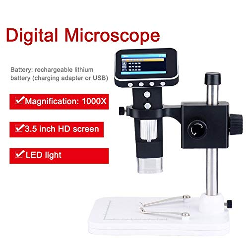 1000X Smart Digital Microscope Wireless with Microscope with Wireless Stand and 3.5 Inch LCD Screen For Factory School Scientific Research 1b16ee