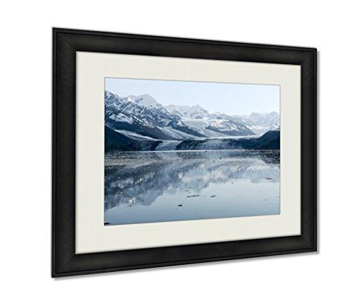 Ashley Framed Prints, Harvard Glacier At College Fjord Prince William Sound Alaska Wall Art Decor Giclee Photo Print In Black Wood Frame, Soft White Matte, Ready to hang, 16x20 Art by Ashley Framed Prints (Image #3)