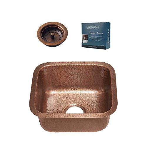 - Sinkology SP502-17AC-AMZ-B Sisley Undermount Handmade Kitchen Sink, 17