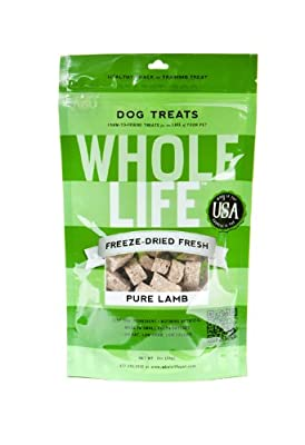 Whole Life Pet Products Pure Meat All Natural Freeze Dried Lamb Filet Treats for Dogs, 1-Ounce by Whole Life Pet Products