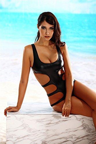 Di Costume Hollow 2018 Mare Triangle Il Conservative S PALMFOX Nera Swimwear Spingere Out M Intero Bikini Lady Pelle Nero Sottili Verso Moda L'Alto Donna L nPwx4dAq6