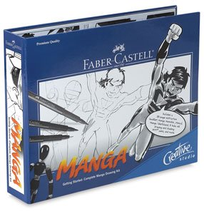 Faber Castell FC800095 Darice Creative Studio Getting Started Art Kit: Manga Drawing