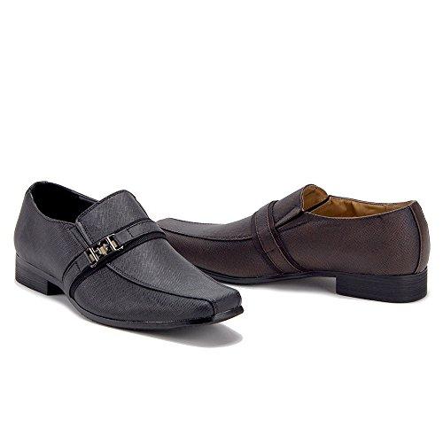 Heren N2869 Slip Ontwerper Casual Loafers Casual Schoenen Bruin