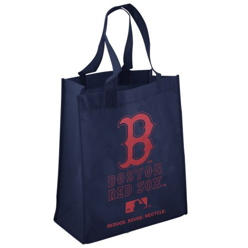 FOCO Boston Red Sox Printed Non-Woven Polypropylene Reusable Grocery Tote (Boston Red Sox Bag)