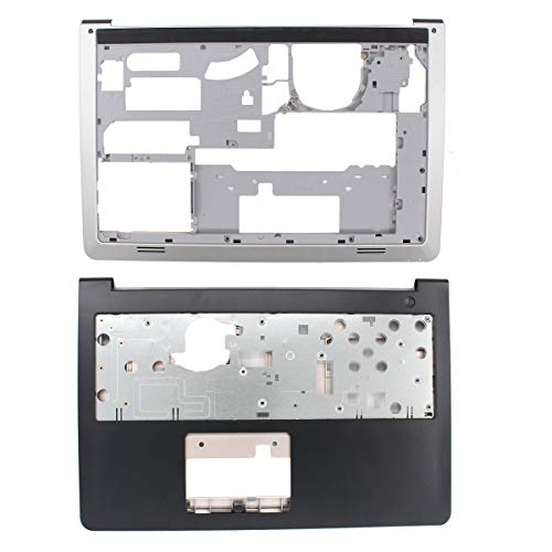 Chassis Bezel - MOTOKU Laptop Palmrest Upper Case Keyboard Bezel and Bottom Case Base Cover Chassis Replacement for Dell Inspiron 15-5547 5542 5545 5548