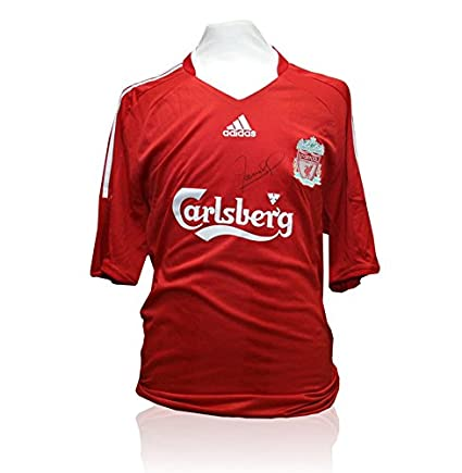 70d26923d Fernando Torres Signed Liverpool Shirt - Front Signed  Amazon.co.uk   Kitchen   Home