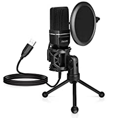 TKGOU SF-777 is a desktop Cardioid polar pattern usb computer microphone which offers an excellent audio quality at a reasonable price. Fitted with a patented audio Pop filter and metal tripod stand, it focuses on your voice and ignores surro...