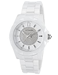 Wittnauer WN3016 Men's Sporty Crystal Accented White Dial White Ceramic Watch by Wittnauer