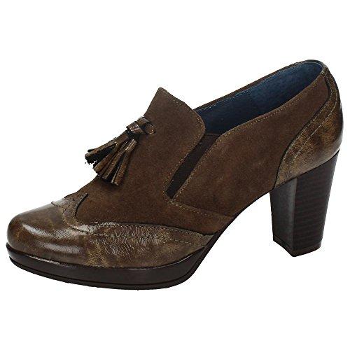 Calidad 1243136 Zapatos Alta Dliro Piel Borlas De Mujer qUzMVSp