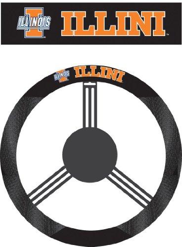 NCAA Illinois Fighting Illini Poly-Suede Steering Wheel - Illinois Outlets
