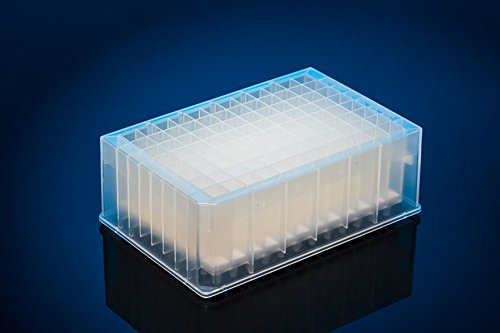 Agilent polypropylene 96-well filter microplate with 25µm polyethylene frit, 2ml/well, long drip, case of 25, recommended receiver plate 201240-100