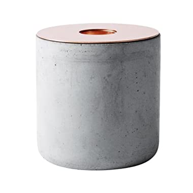 MENU Chunk of Concrete Candleholder, Large, Copper