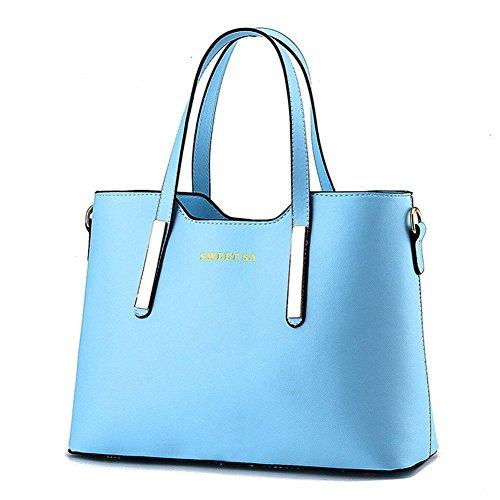 qckj Mode Cross Body Schulter Tasche Frauen Pu Handtasche High Qualität Blau