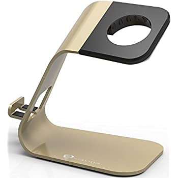 Stalion Apple Watch Stand Desktop Charging Dock Station for Apple Watch Sport Edition Aluminum Body Universal Cradle Holder for Apple Watch – Powder Gold