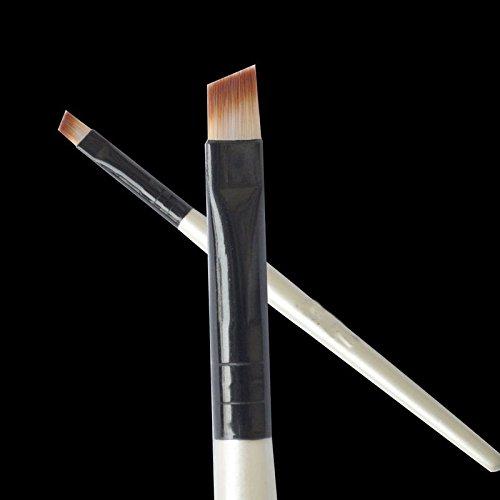 2 Piece New Fashion Professional Elite Angled Eyebrow Brush Nice Eye Liner Brow Makeup Tool 2017 Hot Sale