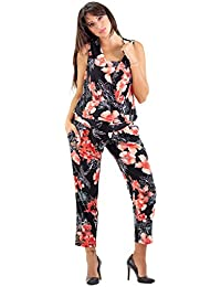 afc7526e6e7c6 Maternity Jumpsuit All in One, Fresh Floral Print, Nursing Dress - Made in  Italy