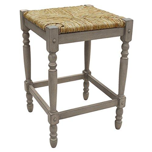 (Carolina Chair & Table 2662-RTA-WG Hawthorne Counter Stool Weathered Gray)