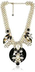 """Purple by M. Haskell Mixed Faceted Bead and Faux Pearl Statement Necklace, 17"""" + 3"""" extender"""