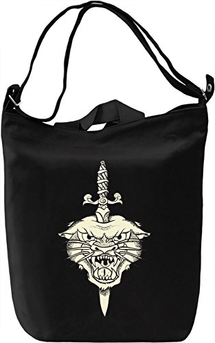 Panther head Borsa Giornaliera Canvas Canvas Day Bag| 100% Premium Cotton Canvas| DTG Printing|
