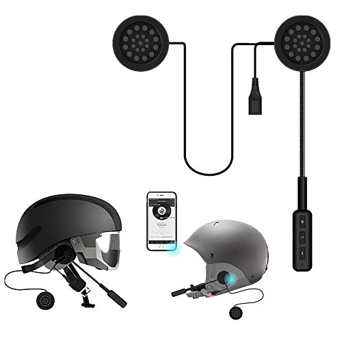 Motorcycle Helmet Wireless Headset Intercom,MeiLiio Bluetooth 4.0 Helmet Headphones Music Call Control Speakers with Mic Earphones Handsfree Communication Systems Headset for iPhone XR,Samsung S10 (Mobile Wireless Intercom)