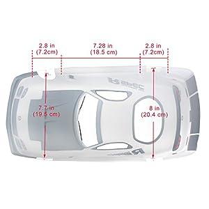 Coolplay 1/10 PVC Car Body Shell RC Racing Car Accessories for Mazada Rx7