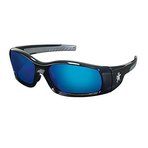 Blue Diamond Mirror Lens (MCR Safety Swagger Eyewear, Black Frame, Blue Diamond Mirror Lens)