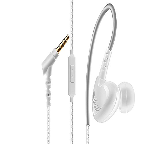 Investment Wired Earphone,COSONIC 3.5mm Stereo In-ear Headphones With Micphone,XBS Bass Earhook Headset For Running White discount