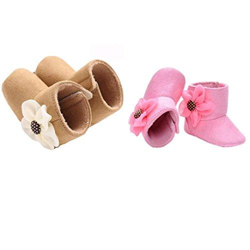 HUHU833 Kinder Mode Baby Stiefel Soft Sole, Blumen Schnee Stiefel, Soft Crib Schuhe Kleinkind Stiefel Khaki