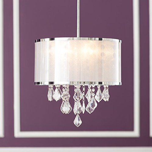 Drum Pendant Light With Crystal in US - 8