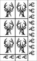 Armour Products Rub 'n' Etch Glass Etching Stencils 5'x8 Deer Head 20R-0416; 3 Items/Order