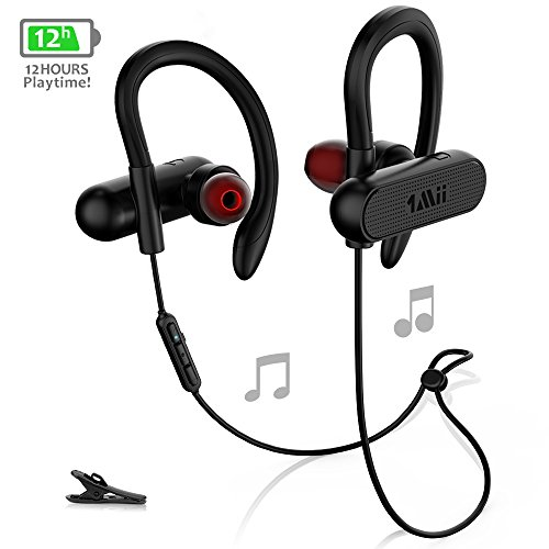 1Mii Bluetooth Headphones w/12 Hours Battery, Magnetic Headphones, Sports Earphones w/Mic - Waterproof aptX HD Stereo Sweatproof Earbuds for Gym Running Workout,Noise Cancelling