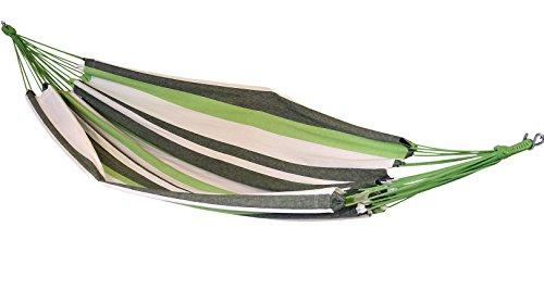 HANGIT Double Camping Hammock - 100% Eco-Friendly Cotton Fabric Portable Hammock with FREE hammock bag for Camping, Best double portable camping hammock for Beach, Backyard & Travel 60''W X 94''L by HANGIT