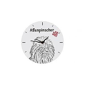 Affenpinscher, freestanding MDF Floor Clock with an Image of a Dog 6
