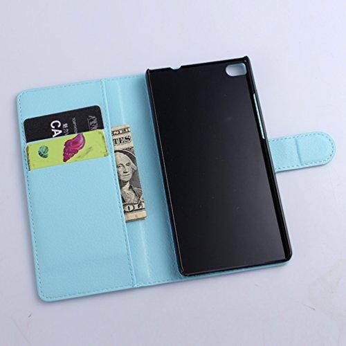 Manyip Funda Huawei P8/Huawei P8 lite(2016),Caja del teléfono del cuero,Protector de Pantalla de Slim Case Estilo Billetera con Ranuras para Tarjetas, Soporte Plegable, Cierre Magnético(JFC5-15) B