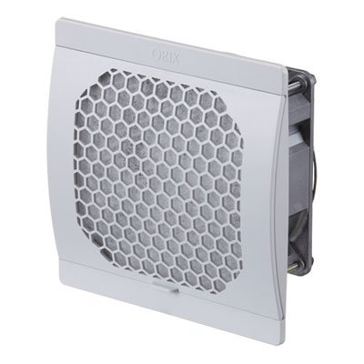 Orix Single Phase 115 Vac  0 18 A  Enclosure Fan   Axial Flow Fan W  Finger Guard With Filter  Ip2x   6 34 In   W  X 6 22 In   H   161 Mm  W  X 158 Mm  H    Exhaust Type