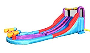 Twin Rapids Inflatable Water Slides with Water Guns