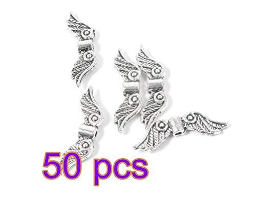 100x Tibetanisches Silber Engel Perlen Charms Anhänger für Armband Kette