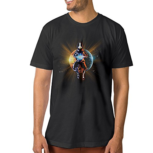NUBIA Men's Airbender Funny T-shirt Black Size L (Elf On The Shelf On The Toilet)