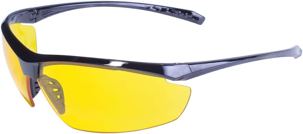 Global Vision ® Z87 Impact Industrial Eye Safety Glasses Goggles Yellow Tint