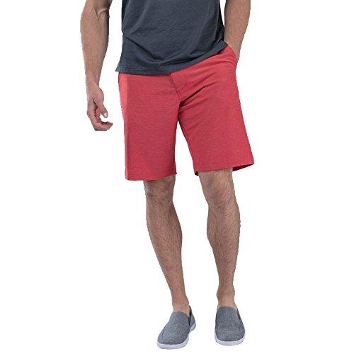 TravisMathew Mens Beck Shorts Pompeian Red 32 ()