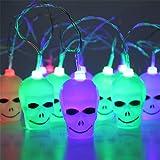 LED Outdoor Pumpkin faces shape Solar led string Light for Halloween decoration Color Lights