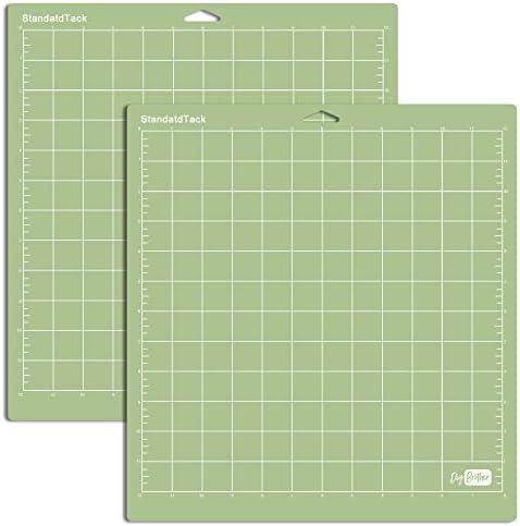 Green 3 Pack, StandardGrip 12x12 StandardGrip Cutting Mat for Cricut Explore One//Air//Air 2//Maker Cut Mats Replacement Accessories for Cricut 12x12 inch Green