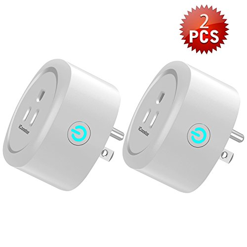 iCoostor Wi-Fi Smart Plug Mini Outlet: Wireless Wi-Fi Outlet Plug To Remote Control Smart Home & Devices| Energy...