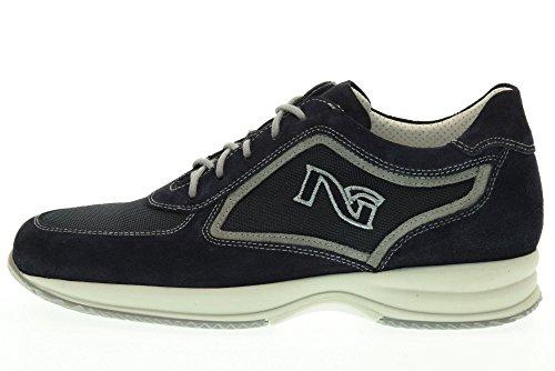 NERO GIARDINI hombre bajas zapatillas de deporte P704751U / 200 Azul