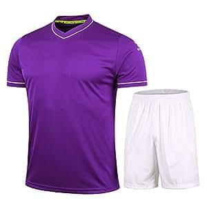 KELME Fútbol Uniforme Camiseta de Trajes para Hombres, Color Morado, tamaño Small